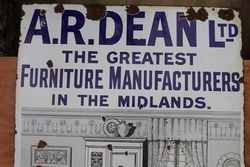 ARDean Furniture Enamel Advertising Sign