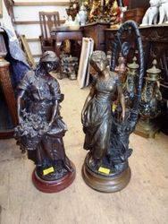 ARRIVING NOVEMBER Pair Of Bronze Figure