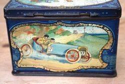 ARRIVING NOV Antique Pictorial Motoring Tin