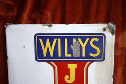 ARRIVING SOONWILLYand96S JEEP Enamel Sign