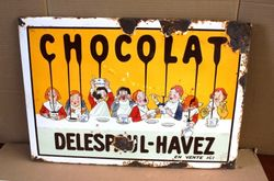 ARRIVING SOON Antique Chocolat  Pictorial Enamel Sign