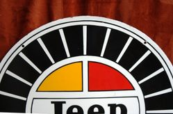 ARRIVING SOON Jeep Double Sided Enamel Sign