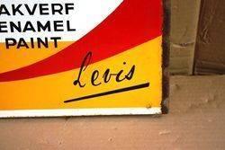 ARRIVING SOON Lustrine Paint Double Enamel Sign