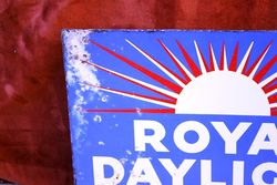 ARRIVING SOON Royal Daylight Postmount Enamel Sign