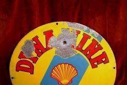 ARRIVING SOON Shell Dynamine Round Enamel Sign