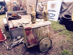 ARRIVING SOON Texaco 2 Pump Oil Cart