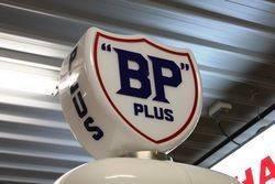 A A Well Restored Siam Clockface Manual Petrol Pump In BP Livery