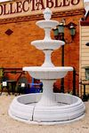 A Beautiful Classical White Marble 3 Tier Fountain.