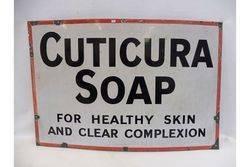 A Cuticura Soap rectangular enamel sign