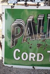 A Early Vintage PALMER Cord Tyres Enamel Sign