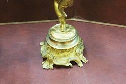 A Fine Pair Of Antique Gilt Bronze 3 Branch Cherub Candelabras C1860