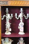 A Fine Pair Of Sitzendorf Porcelain Candelabras C1880