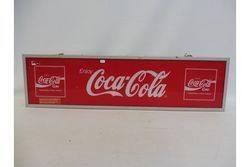 A Genuine Coca Cola rectangular lightbox