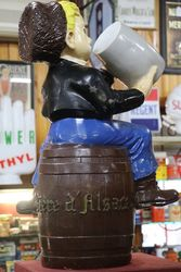 A Genuine Large Pecheur Beer Pub Advertising Figure