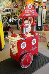 A Genuine Texaco 2 Pump Oil Cart