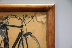 A Genuine Vintage Humber Cycles Framed Poster