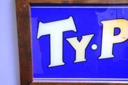A Genuine Vintage TyPhoo Glass Advertising Panel