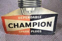 A Genuine and Rare Champion DieCut Showcard