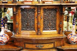 A Gorgeous Antique Carved Oak Parlor Cabinet