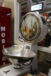 A Large Set Of White Enamel And Mirrored Avery Shopkeepers Scales