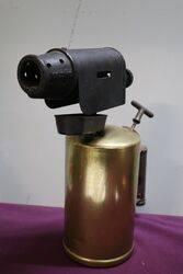 A Large Vintage Brass + Metal Vulcano Blowtorch