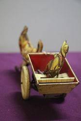 A Mark Toys Clockwork Tinplate Model Of A Donkey Pulling A Cart
