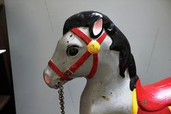A Mobo Tin Plate Walking Horse Sit On Childrenand39s Toy