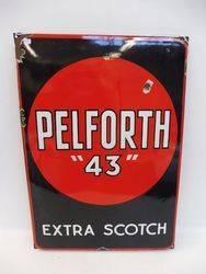 A Pelforth 43 Extra Scotch Enamel Sign