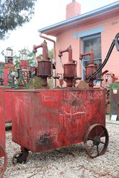 A Portable Triple Pump Oil Cart in Original Condition