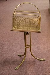 A Quality Antique Brass Magazine Rack