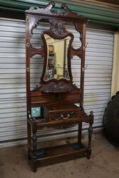 A Quality Antique Mahogany Hallstand