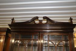A Quality Antique Mahogany Two Door Bookcase