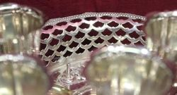 A Quality Nineteenth Century Silver Plate 6cup Egg Cruet c1885