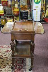 A Quality Tray Top Oak Tea Trolley