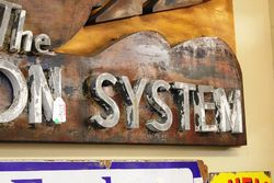 A Rare Ferguson System Metal Sign