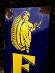 A Rare Fisk Tyres Pictorial Enamel Sign