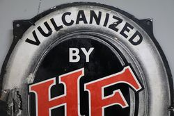 A Rare Harvey Frost Vulcanized Tyre Repairs Enamel Sign