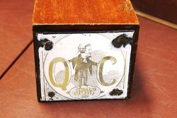 A Rare Late Victorian Queens Council Cigar Box With 2 Enamel Signs