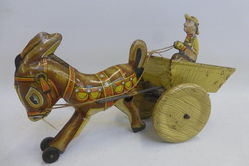 A Selection of Vintage Tin Plate Toys
