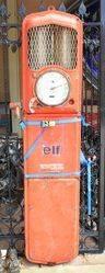 A Siam Wall Mount Manual Petrol Pump For Restoration