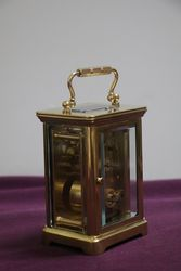 A Small Antique French Brass Carriage Clock