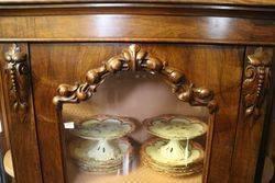 A Small Victorian Burr Walnut Credenza
