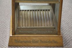 A Small Waterman+39s Ideal Fountain Pen Shop Display Cabinet