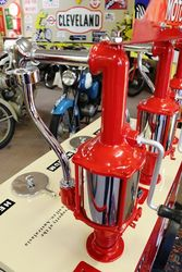 A Stunning 3 Pump Texaco Oil Cart