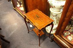 A Stunning And Rare Late 19th Century Satinwood Occasional Table