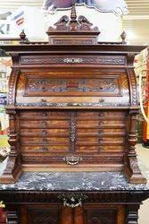 A Stunning Antique Walnut Dental Cabinet