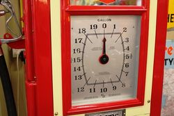A Stunningly Restored Art Deco Wayne 60 Clockface In Texaco Livery