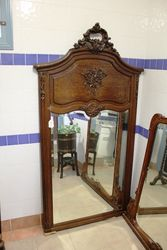 A Superb And Large French Carved Oak Wall Mirror C1880