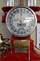 A Themis Wall Mount Petrol Pump UNDERGOING RESTORATION