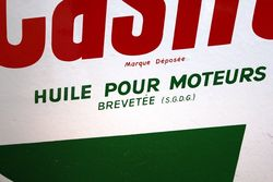 A Very Clean Castrol Z Round Enamel Sign